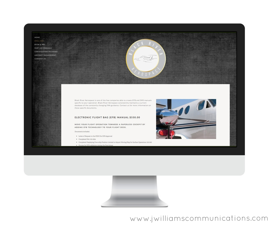 black river aerospace squarespace website design