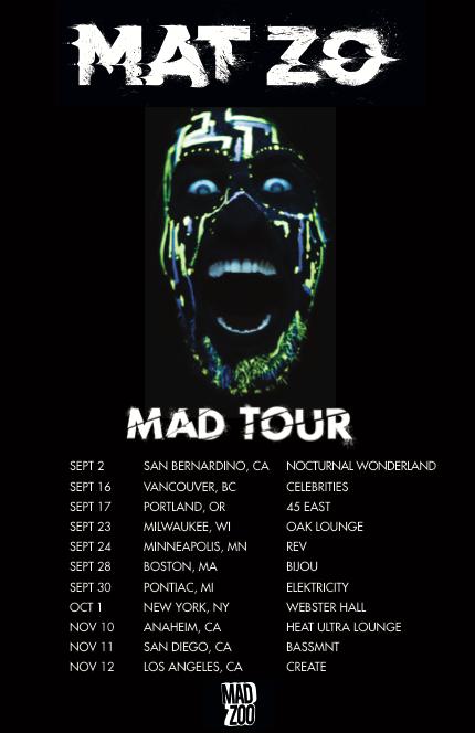 Tour Admat for Mat Zo