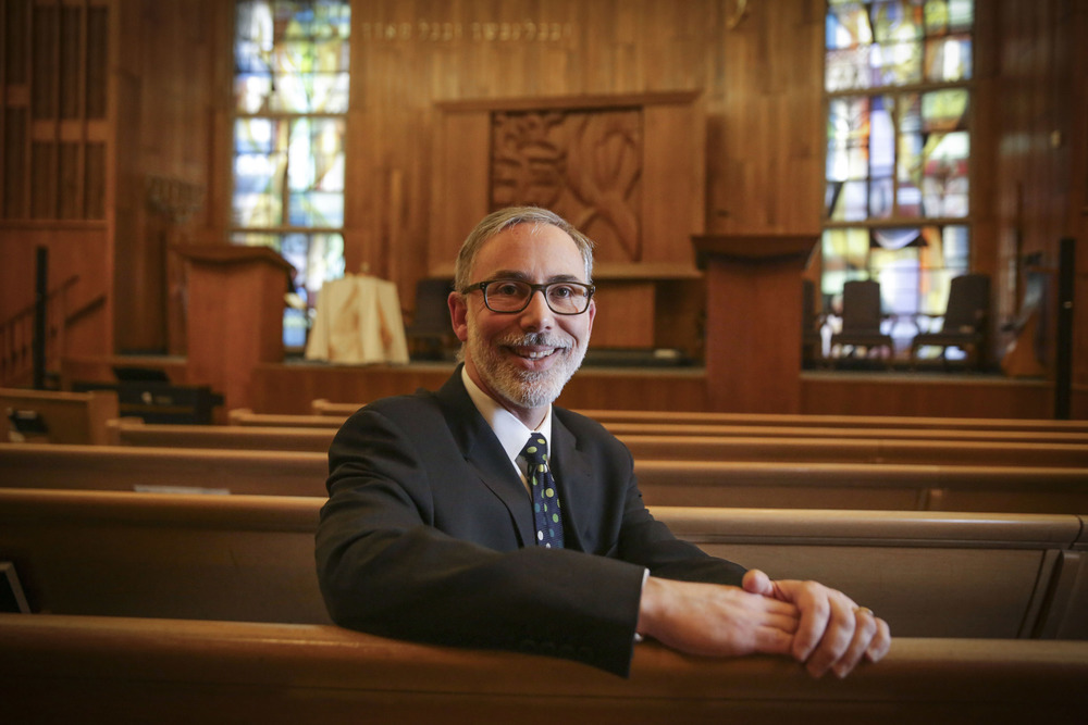 Rabbi Max Weiss at the Oak Park Temple.