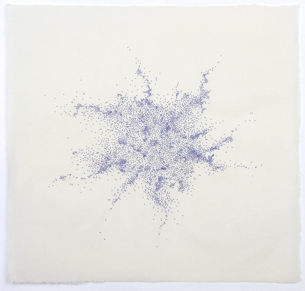 Untitled (blue dots)