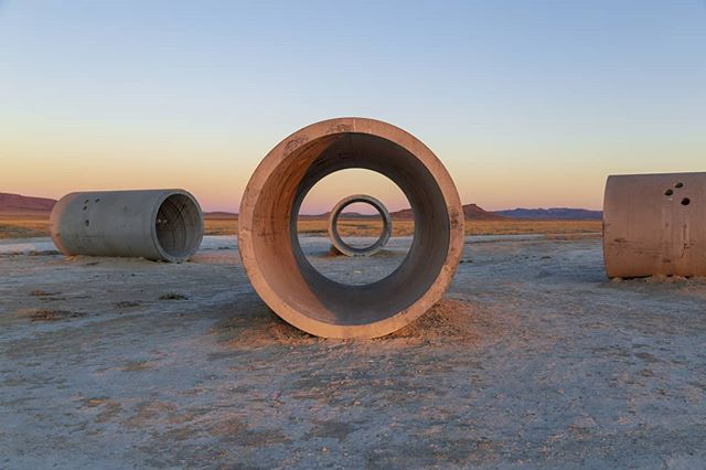 #playing  Sunrise @ Nancy Holt's Sun Tunnels (1973–76) Great Basin Desert, UT  I highly recommend you go check it out.  #landart #landscape #landscapephotography #nancyholt #utah #roadtrip #desert #sculpture #art #dia #diafoundation #greatbasin #landartsoftheamericanwest