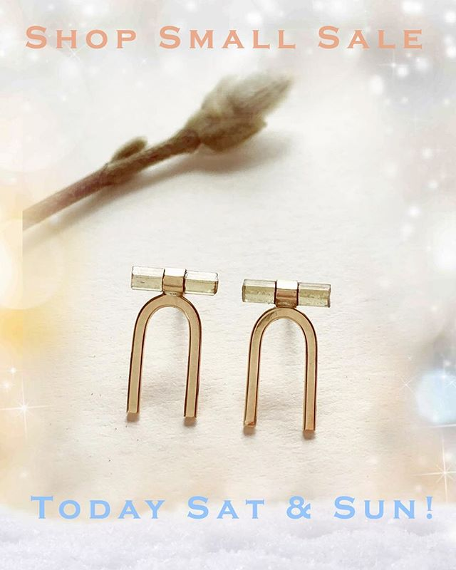 """Our celebration of Babe owned businesses starts Today! Enter """"SHOPSMALL"""" at checkout at www.jenedespain.com to receive 20% off your entire order anytime today and tomorrow. Thank you SO much to all of you who support my jewelry and are shopping small this season. YOU are fostering endless joy & beauty in the goods created in our communities. Xx Jené"""