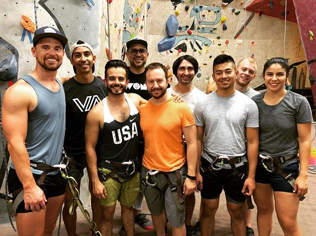 Great to get climbing again with friends!