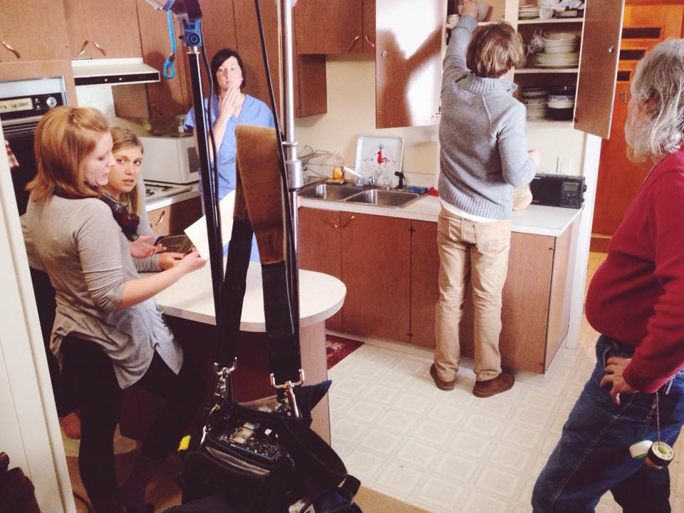 BTS still from 'Winter Solstice'. Production 01/03/2015.
