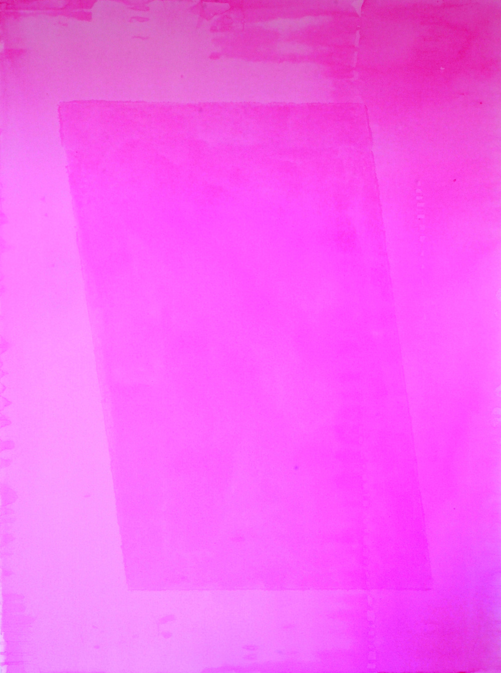 Sam Fryer, Pink Paraellelogram, 2014 Acrylic on Canvas, 20 x 40 in.jpg