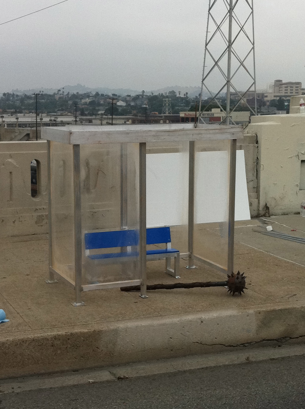 Small Scale Bus Stop for Best Buy Ad
