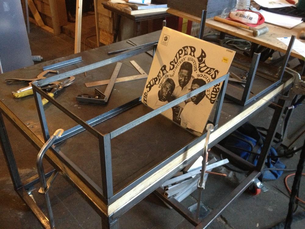 Steel Vinyl Record Crates