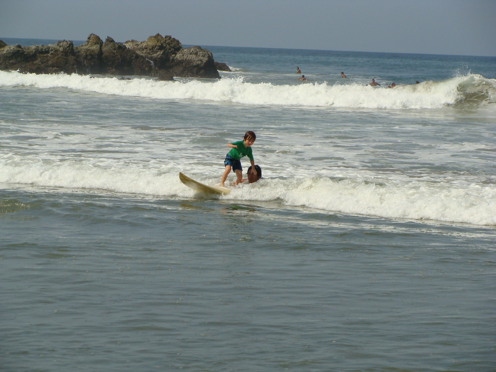 You are never too young to learn to surf