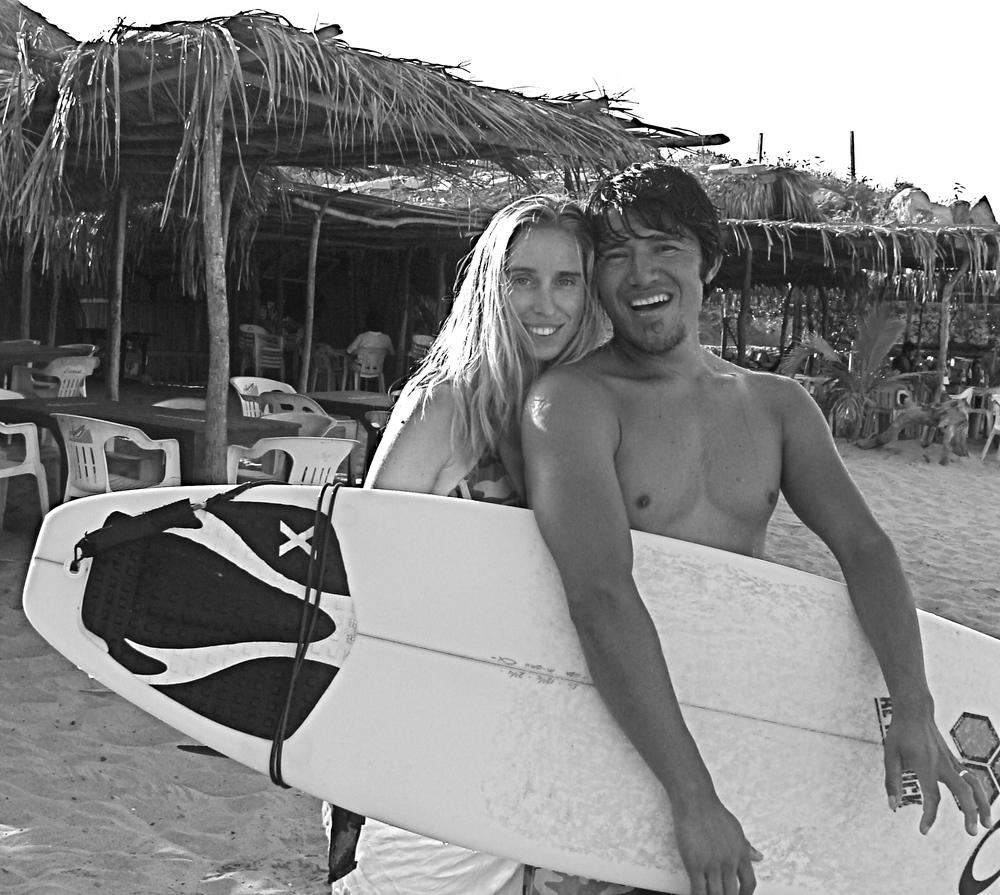 We offer surf lessons!