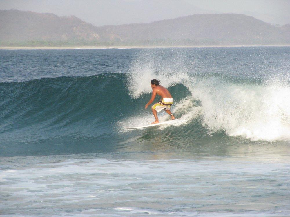 Short-boarding in Puerto Escondido