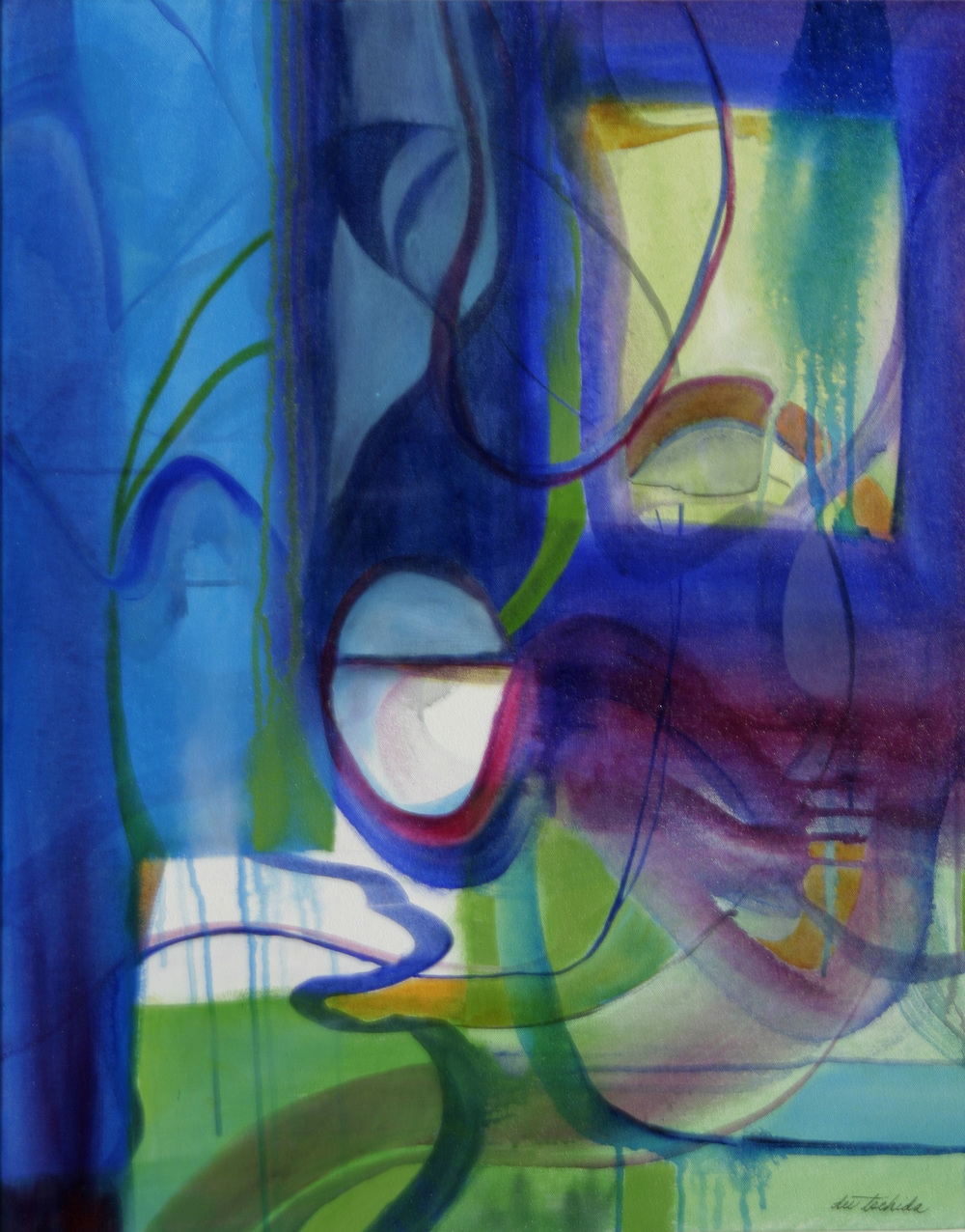 """Blue Lagoon  24"""" x 30"""" acrylic on canvas"""
