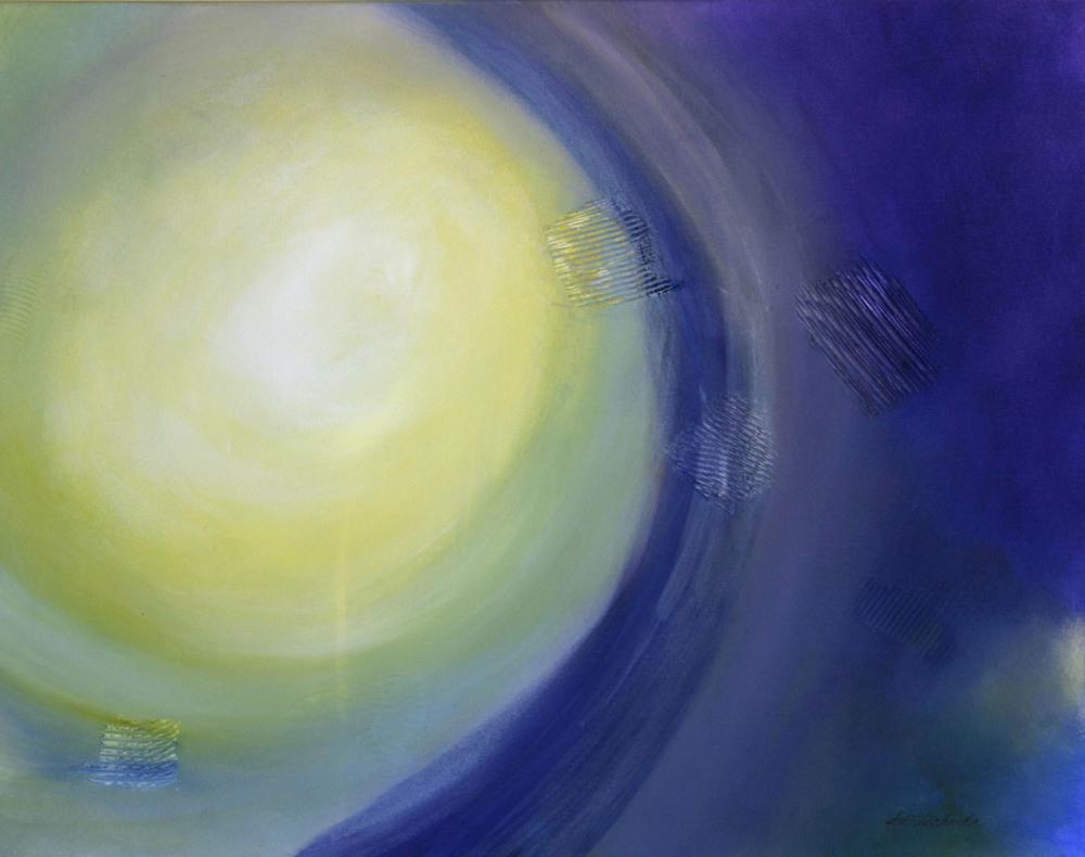 """Emanation 24"""" x 30"""" acrylic on canvas"""