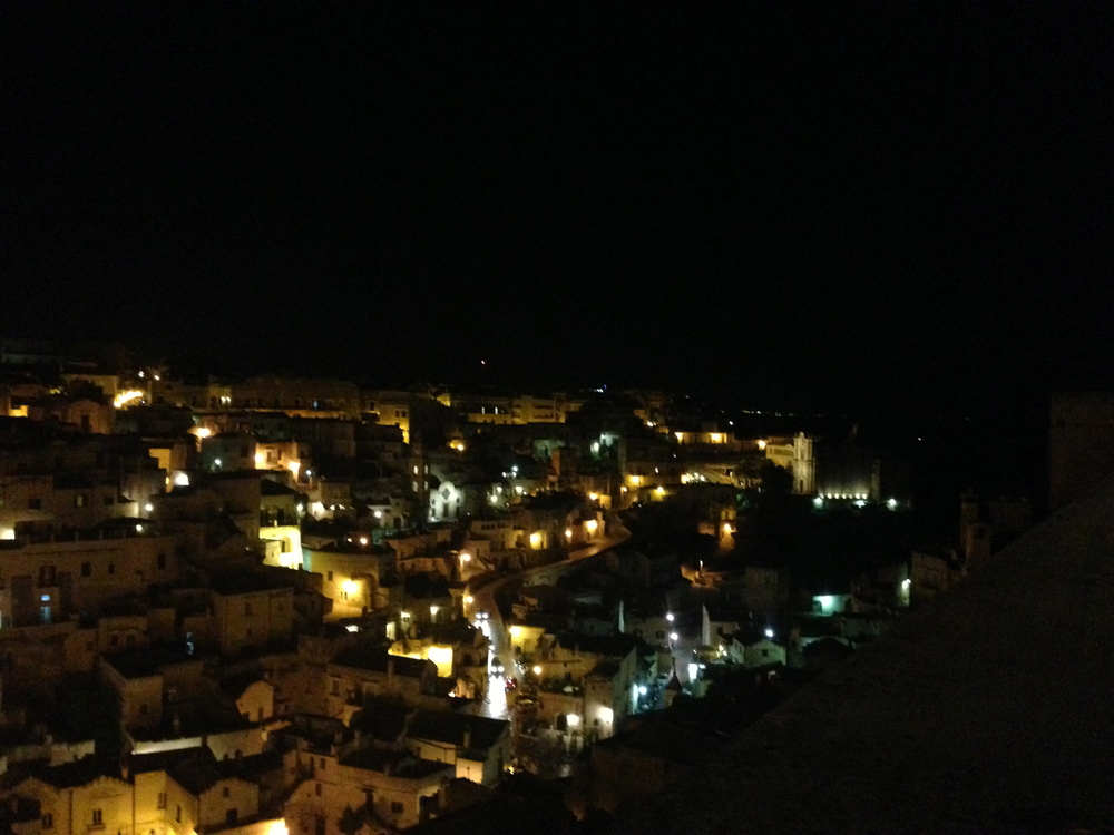 Nice night view of the sassi from the cathedral.
