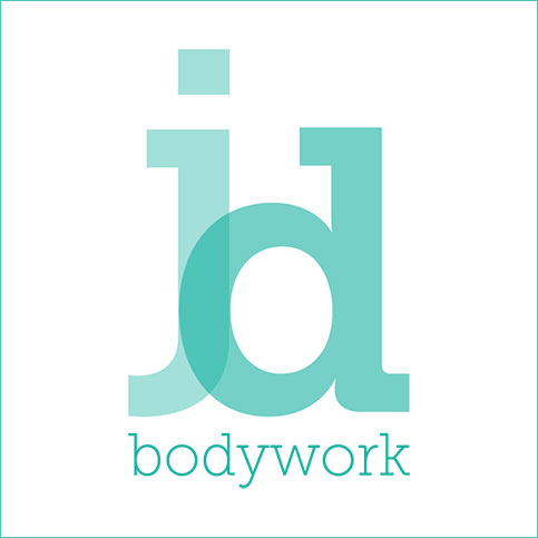 The client needed a logo that conveyed the importance of posture and the hands on experience of bodywork. Using lower-case type treatment of Juliet Delillo's initials we created a logo that was iconic and easy to read.