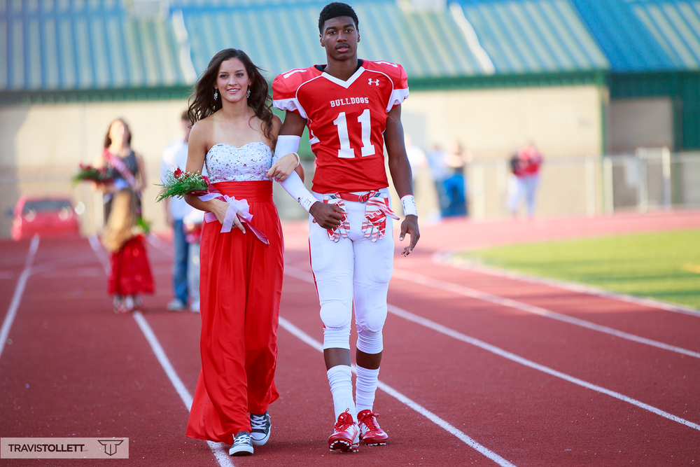 Shelby Tate escorted by Marcellous Dowell