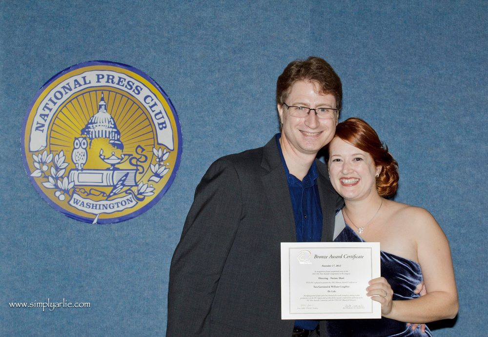 "with William R. Coughlan and our award certificates for ""The Lake"" 2012 TIVA Peer Awards"