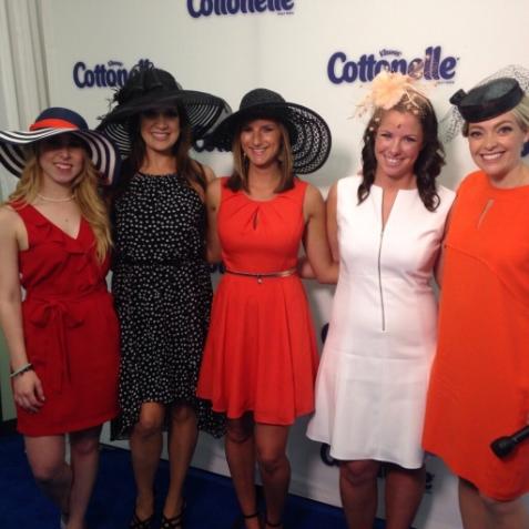 Our Cottonelle correspondents dressed to impress. Photo c/oSuburban Turmoil.