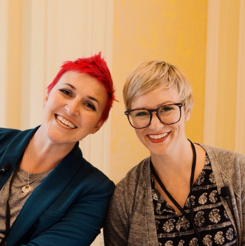 Collectively CEO & Co-Founder Ryan Stern (right) with her co-presenter, Ashlee (left). Image c/o Brooke Dennis.
