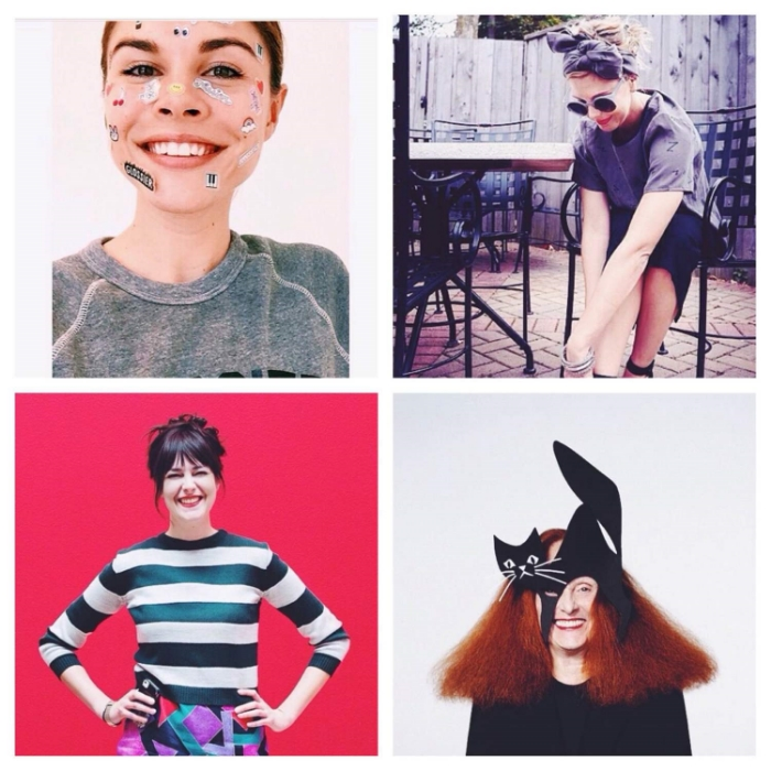 Clockwise (left to right): Emily Weiss, Erin Loechner, Grace Coddinton, and Ann Friedman.