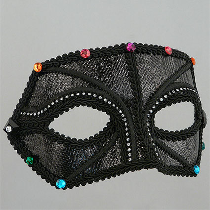 Midnight Rainbow Companion Masquerade Mask Thumb
