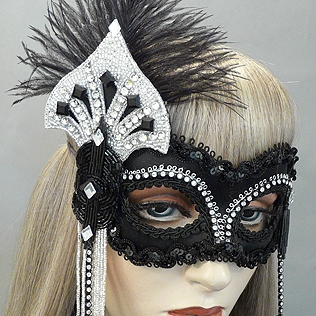 Garbo  Masquerade Mask   Thumb