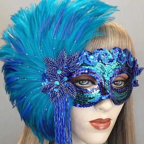 Jade Masquerade Mask  Thumb
