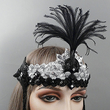 Charleston Gatsby Flapper Headband Thumb