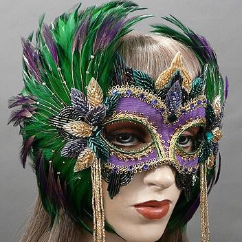 Queen Mardi Gras Masquerade Mask Thumb