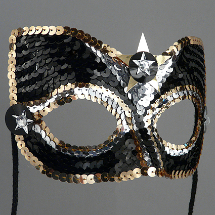 Sequin Star Companion Masquerade Mask