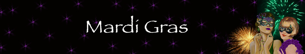 Mardi Gras Masquerade Mask Collection Banner