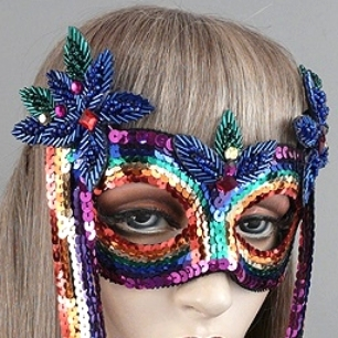 Rainbow Masquerade Mask Thumb