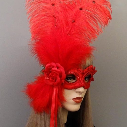 Rose  Masquerade Mask Thumb