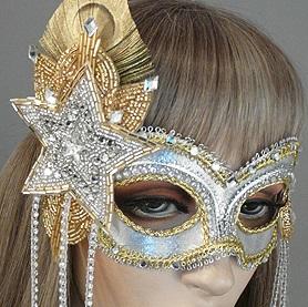 Starstruck Masquerade Mask Close