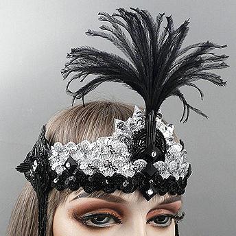 Charleston Gatsby Flapper Headband Close