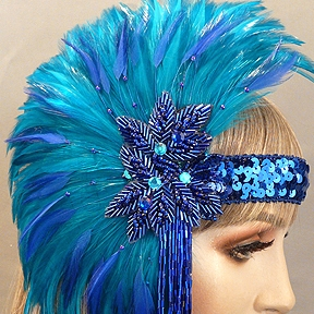 Bernadine Gatsby Flapper Headband Close