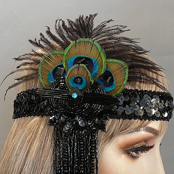 Fandango Gatsby Flapper Headband Close