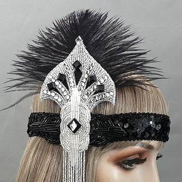 Isadora Gatsby Flapper Headband Close