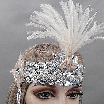 Audrey Gatsby Flapper Headband Close