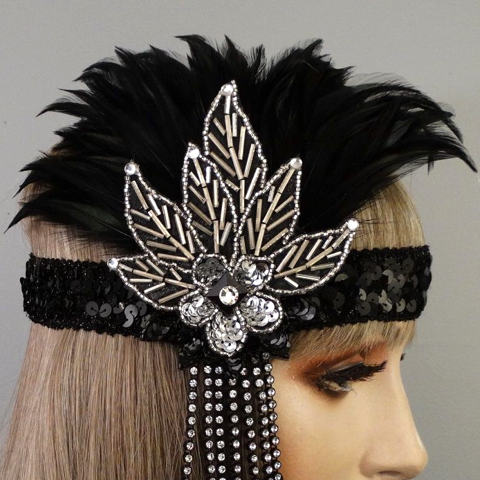 Lexy Gatsby Flapper Headband Close