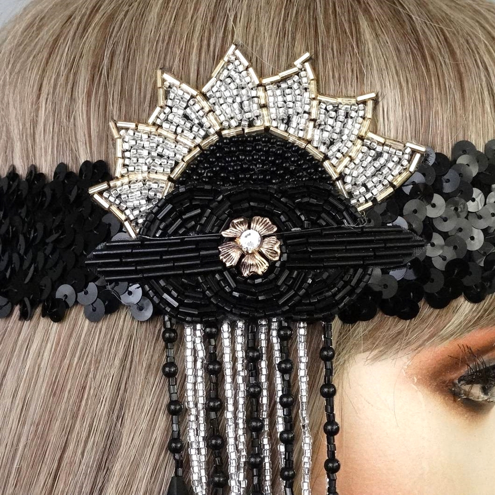 Zara Gatsby Flapper Headband Close