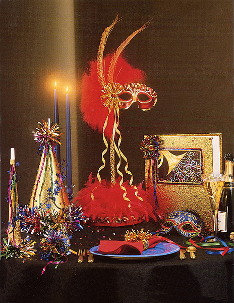 Gold Masquerade Centerpieces