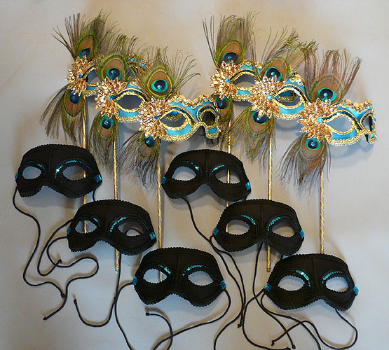 Custom Quinceanera Court Masks - Male and Female Masks