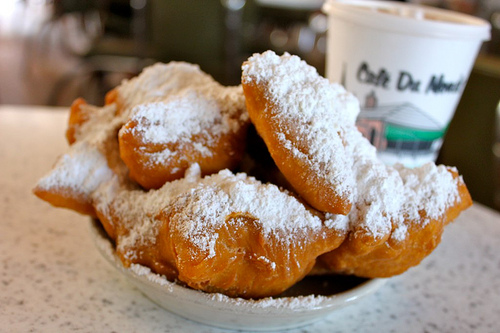 Have a delicious Beignet and people watch while sitting at the famous Cafe Du Monde