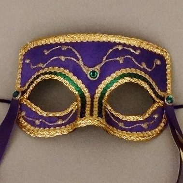 Carnival Companion Mardi Gras Masquerade Mask Thumb
