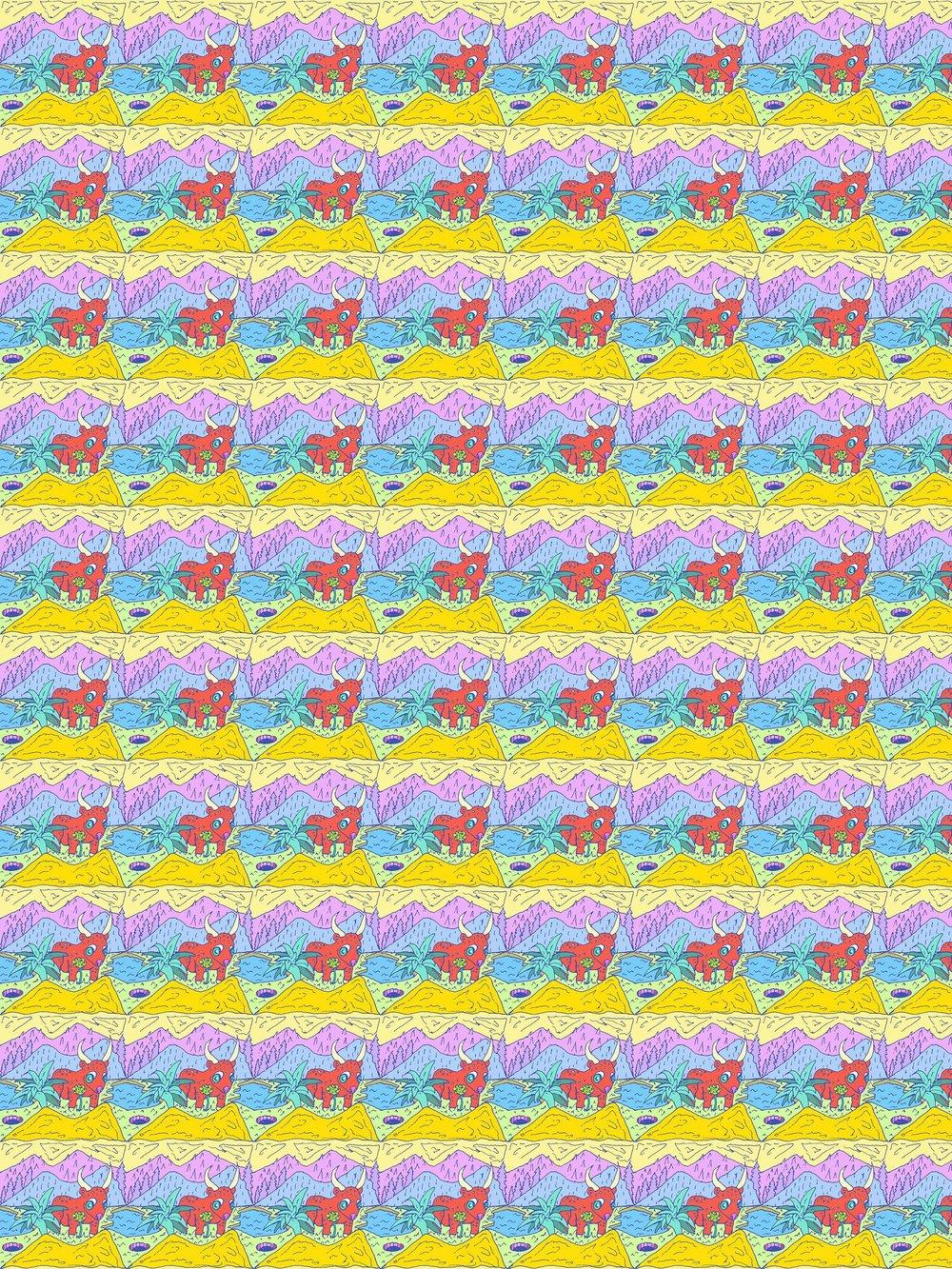 bull landscape pattern 7x10.jpg