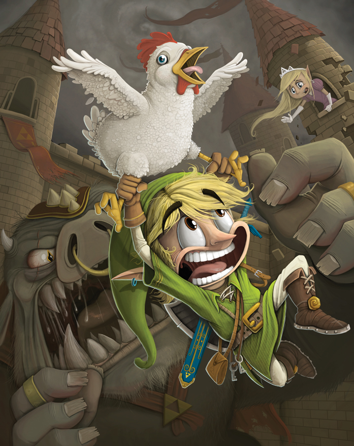 My Friend Is An Amazing Artist Check Out His Legend Of Zelda Piece