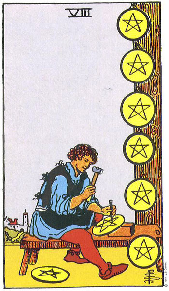 tarot of the week--eight of pentacles — angie yingst