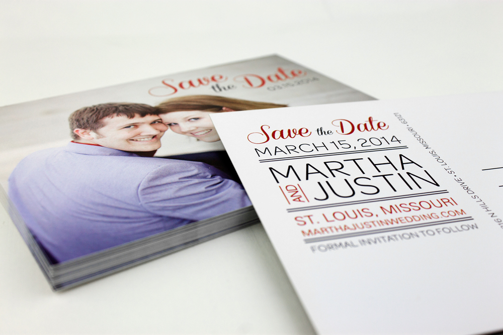 Martha & Justin Postcard Save the Date