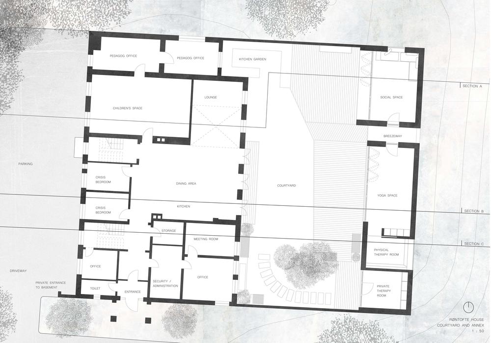 Røntofte Annex Site Plan, Megan Blake, 2017.