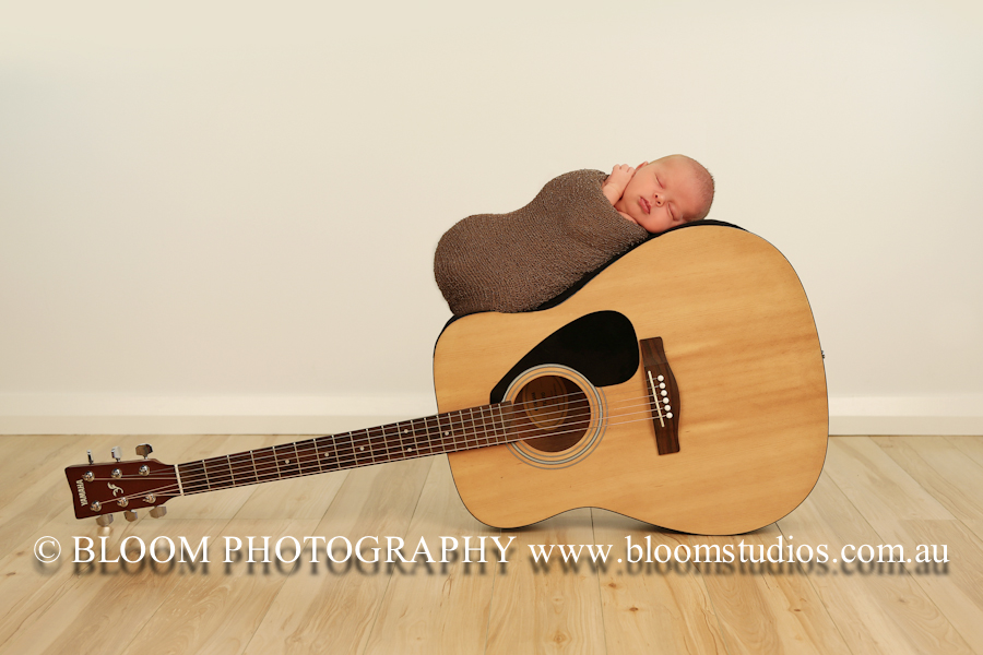 Chase's Daddy is a musician & brought his guitar along to the shoot for a prop!